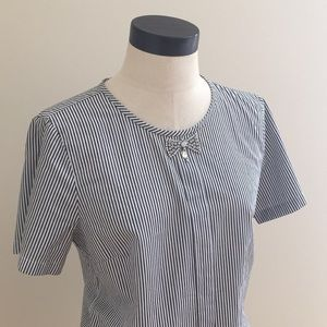 Striped J Crew Top with jeweled bow